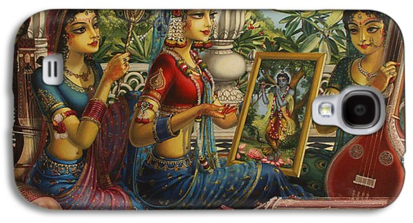 Design Paintings Galaxy S4 Cases - Purva raga Galaxy S4 Case by Vrindavan Das