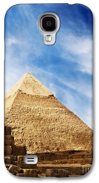 Ancient Pyrography Galaxy S4 Cases - Pyramids in Egypt  Galaxy S4 Case by Jelena Jovanovic