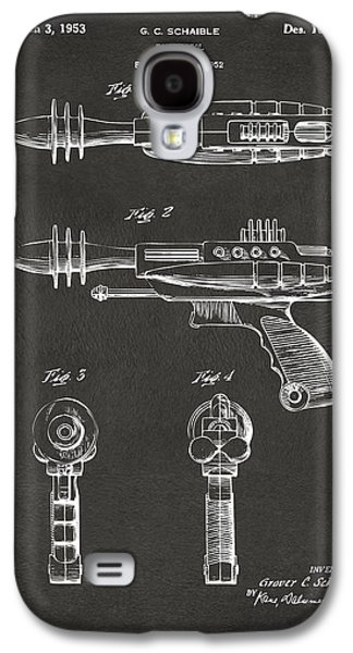 Futuristic Galaxy S4 Cases - Pyrotomic Disintegrator Pistol Patent Gray Galaxy S4 Case by Nikki Marie Smith