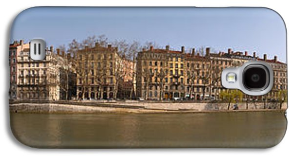 Rhone Alpes Galaxy S4 Cases - Quai Du Marechal Joffre Along The Saone Galaxy S4 Case by Panoramic Images