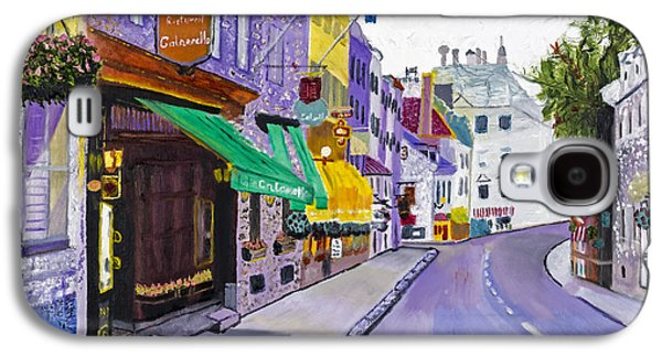 Quebec Galaxy S4 Cases - Quaint Quebec City by Stan Bialick Galaxy S4 Case by Sheldon Kralstein