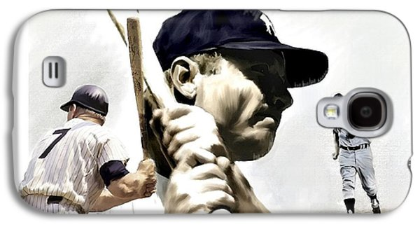 Quality Of Greatness Mickey Mantle Galaxy S4 Case by Iconic Images Art Gallery David Pucciarelli