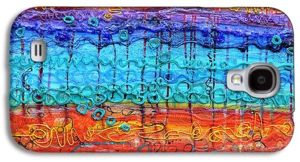 Colorful Abstract Reliefs Galaxy S4 Cases - Quantum Cascade Galaxy S4 Case by Regina Valluzzi