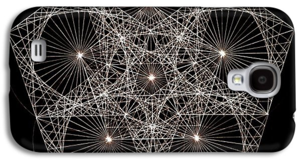 Hand Drawn Galaxy S4 Cases - Quantum Star II Galaxy S4 Case by Jason Padgett