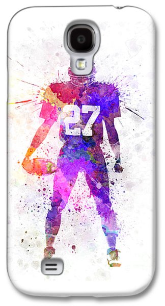 American Football Paintings Galaxy S4 Cases - Quarterback American Football Player Man Galaxy S4 Case by Pablo Romero