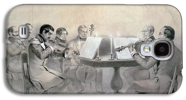 Drawing Galaxy S4 Cases - Quartet Of The Composer Count A. F. Lvov, 1840 Pencil On Paper Galaxy S4 Case by R. Rorbach