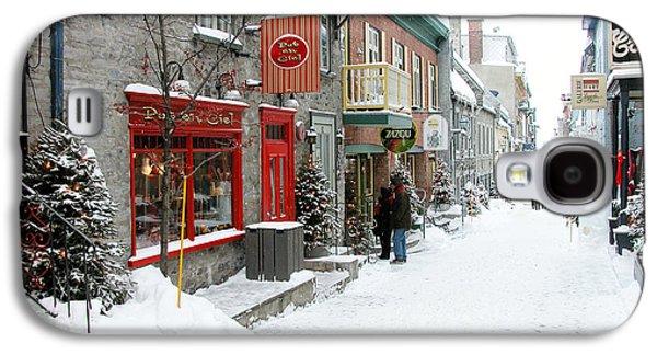 Quebec Galaxy S4 Cases - Quebec City in Winter Galaxy S4 Case by Thomas R Fletcher
