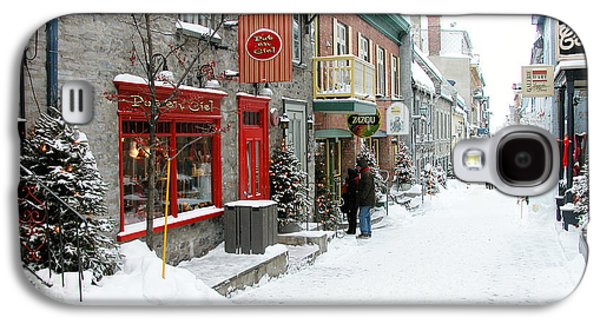 French Signs Galaxy S4 Cases - Quebec City in Winter Galaxy S4 Case by Thomas R Fletcher