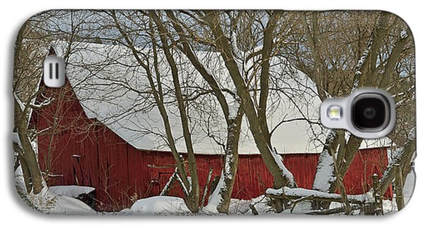 Red Barn In Winter Photographs Galaxy S4 Cases - Quebec Winter Galaxy S4 Case by Joshua McCullough