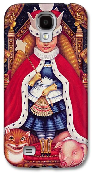Alice In Wonderland Galaxy S4 Cases - Queen Alice, 2008 Oil And Tempera On Panel Galaxy S4 Case by Frances Broomfield