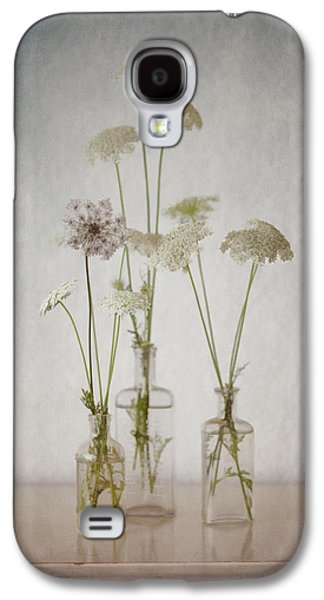 Meditative Photographs Galaxy S4 Cases - Queen Annes Lace End of Summer Galaxy S4 Case by Carol Leigh