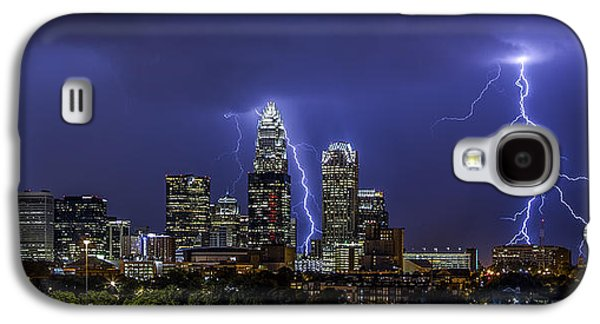 Charlotte Galaxy S4 Cases - Queen City Strike Galaxy S4 Case by Chris Austin