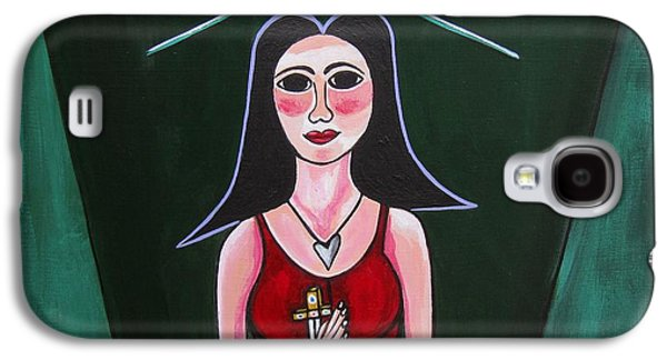 Prostitutes Paintings Galaxy S4 Cases - Queen Mary Magdalene Galaxy S4 Case by Sandra Marie Adams