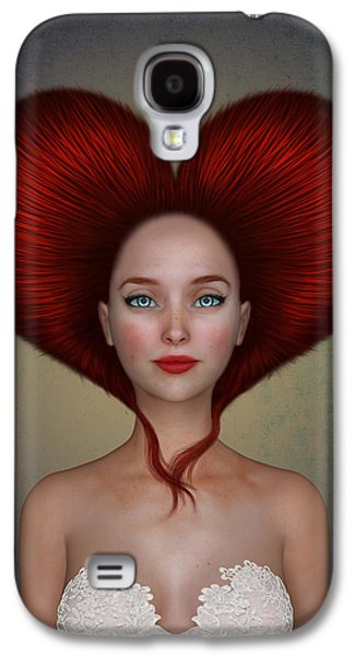Queen Of Hearts Galaxy S4 Case by Britta Glodde