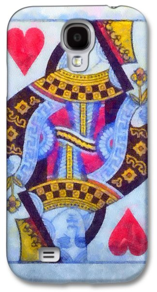 The Houses Mixed Media Galaxy S4 Cases - Queen Of Hearts Galaxy S4 Case by Dan Sproul