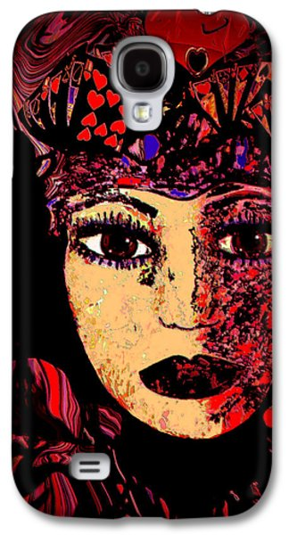 Spiritual Portrait Of Woman Mixed Media Galaxy S4 Cases - Queen Of Hearts Galaxy S4 Case by Natalie Holland