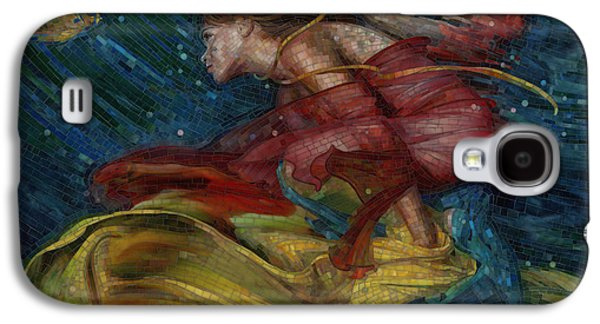 Figures Glass Galaxy S4 Cases - Queen of the Angels Galaxy S4 Case by Mia Tavonatti
