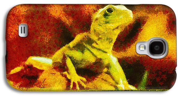 Chameleon Galaxy S4 Cases - Queen of the Reptiles Galaxy S4 Case by Ayse Deniz