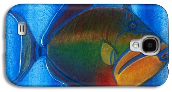 Queen Triggerfish  1 Galaxy S4 Case by Chad Gill