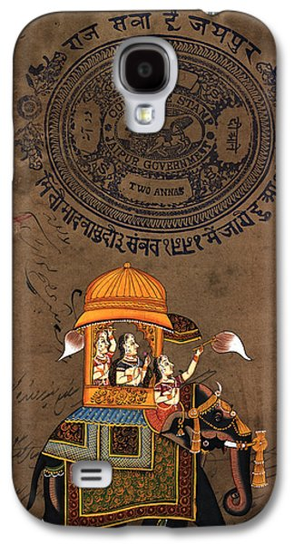 Indian Tapestries - Textiles Galaxy S4 Cases - Queens Ride Galaxy S4 Case by Pallavi