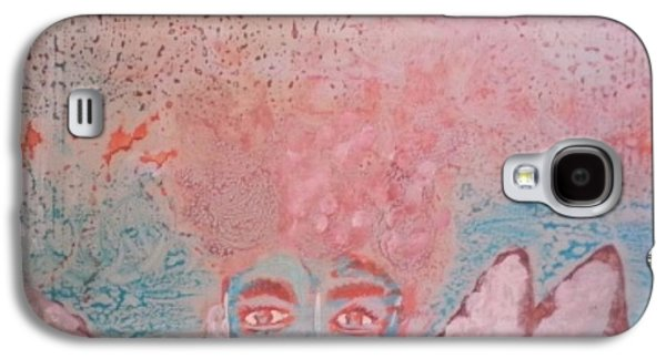 Portraits Ceramics Galaxy S4 Cases - Quick Abstract on Ceramic Tile Galaxy S4 Case by Valery Bonbon