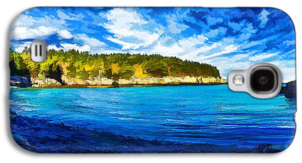 Coastal Maine Galaxy S4 Cases - Quiet Cove at Cutler - Painterly Galaxy S4 Case by Bill Caldwell -        ABeautifulSky Photography