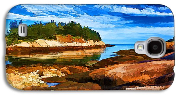 Coastal Maine Galaxy S4 Cases - Quiet Cove at Great Wass - Painterly Galaxy S4 Case by Bill Caldwell -        ABeautifulSky Photography