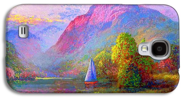 Sailing Into A Quiet Haven Galaxy S4 Case by Jane Small