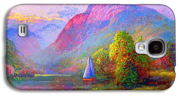 Colorful Paintings Galaxy S4 Cases - Quiet Haven Galaxy S4 Case by Jane Small