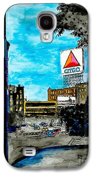 Red Sox Paintings Galaxy S4 Cases - Quiet Night Outside of Fenway Galaxy S4 Case by Rob Monte