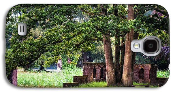 Garden Scene Galaxy S4 Cases - Quiet Park Corner. De Haar Castle Galaxy S4 Case by Jenny Rainbow