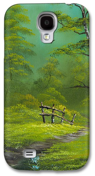 Sawtooth Mountain Paintings Galaxy S4 Cases - Quiet Trail Galaxy S4 Case by C Steele