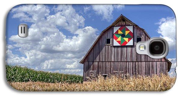 Quilt Barn - Double Windmill Galaxy S4 Case by Nikolyn McDonald