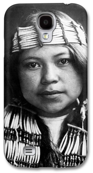 Braids Galaxy S4 Cases - Quinault Indian girl circa 1913 Galaxy S4 Case by Aged Pixel