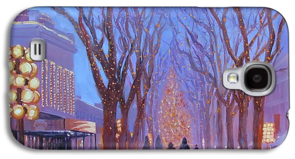 Trees In Snow Galaxy S4 Cases - Quincy Market at Twilight Galaxy S4 Case by Laura Lee Zanghetti