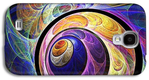 Colors Digital Galaxy S4 Cases - Quizzical Galaxy S4 Case by Anastasiya Malakhova