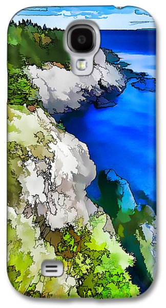 Photo Manipulation Galaxy S4 Cases - Quoddy Coast - Abstract Painterly Galaxy S4 Case by Bill Caldwell -        ABeautifulSky Photography