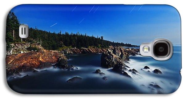 Coastal Maine Galaxy S4 Cases - Quoddy Coast by Moonlight Galaxy S4 Case by Bill Caldwell -        ABeautifulSky Photography