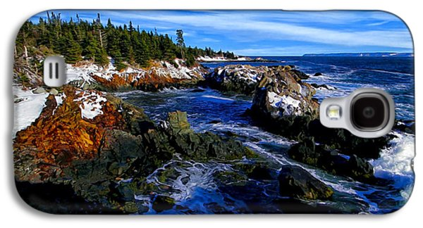 Digitally Manipulated Galaxy S4 Cases - Quoddy Coast with Snow Galaxy S4 Case by Bill Caldwell -        ABeautifulSky Photography