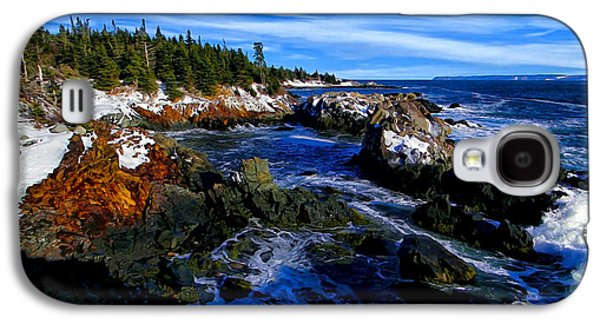 Coastal Maine Galaxy S4 Cases - Quoddy Coast with Snow Galaxy S4 Case by Bill Caldwell -        ABeautifulSky Photography