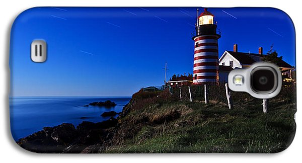 Coastal Maine Galaxy S4 Cases - Quoddy Head by Moonlight Panorama Galaxy S4 Case by Bill Caldwell -        ABeautifulSky Photography