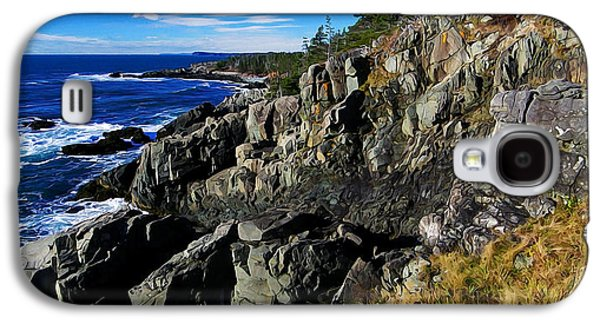 Photo Manipulation Galaxy S4 Cases - Quoddy Head Ledge Galaxy S4 Case by Bill Caldwell -        ABeautifulSky Photography