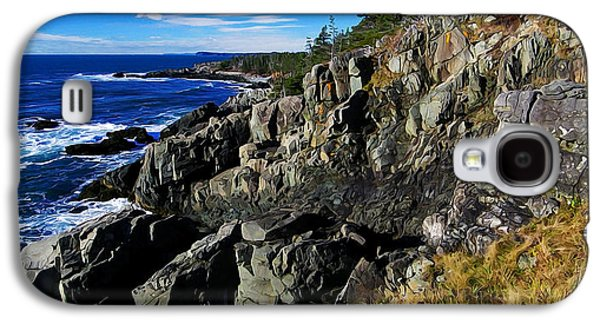 Coastal Maine Galaxy S4 Cases - Quoddy Head Ledge Galaxy S4 Case by Bill Caldwell -        ABeautifulSky Photography