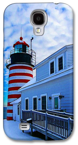 Bill Caldwell Galaxy S4 Cases - Quoddy Head Lighthouse in Winter 2 Galaxy S4 Case by Bill Caldwell -        ABeautifulSky Photography