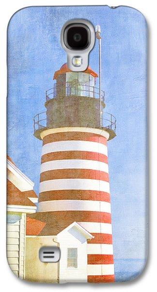 West Digital Galaxy S4 Cases - Quoddy Lighthouse Lubec Maine Galaxy S4 Case by Carol Leigh