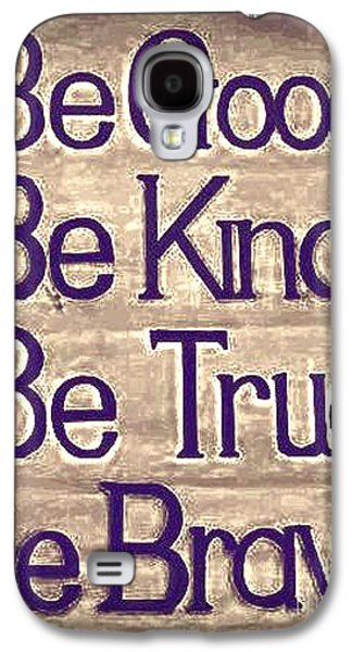 Bible Pyrography Galaxy S4 Cases - Quotes for life Galaxy S4 Case by Miryam  UrZa