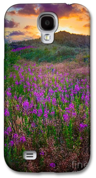 Europa Galaxy S4 Cases - Raabjerg Fireweeds Galaxy S4 Case by Inge Johnsson