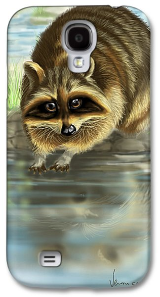 Raccoon Digital Art Galaxy S4 Cases - Raccoon Galaxy S4 Case by Veronica Minozzi