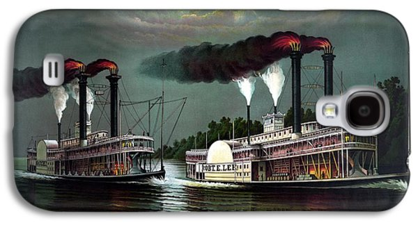 Steamboat Galaxy S4 Cases - Race Of The Steamers Robert E Lee and Natchez Galaxy S4 Case by War Is Hell Store