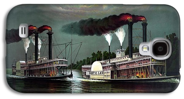Paddle Galaxy S4 Cases - Race Of The Steamers Robert E Lee and Natchez Galaxy S4 Case by War Is Hell Store